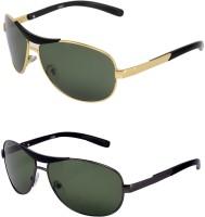Vars Aviator Sunglasses(Black, Black)