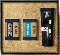 Beardo Activated Charcoal Facewash - Charcoal Soap & DEEP SEA Brick Soap(Set of 3)