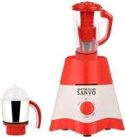 MasterClass Sanyo MG17-TA-STR-14 600 Juicer Mixer Grinder(Red, White, 2 Jars)