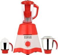 MasterClass Sanyo MG17-TA-STR-44 600 Juicer Mixer Grinder(Red, White, 3 Jars)