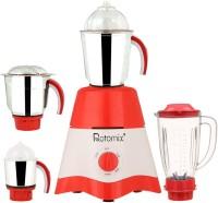 Rotomix MG17-TA-STR-73 600 Juicer Mixer Grinder(Red, White, 4 Jars)