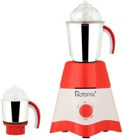 Rotomix MG17-TA-STR-3 600 Mixer Grinder(Red, White, 2 Jars)