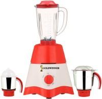 Goldwinner MG17-TA-STR-56 600 Juicer Mixer Grinder(Red, White, 3 Jars)