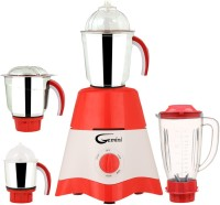 Gemini MG17-TA-STR-80 600 Juicer Mixer Grinder(Red, White, 4 Jars)