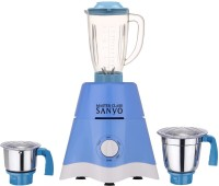 MasterClass Sanyo MG17-TA-STR-214 600 Juicer Mixer Grinder(Blue, 3 Jars)