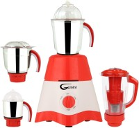 Gemini MG17-TA-STR-70 600 Juicer Mixer Grinder(Red, White, 4 Jars)