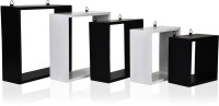 View MasterCraft Wall Shelves MDF Wall Shelf(Number of Shelves - 5, Black, White) Furniture (MasterCraft)
