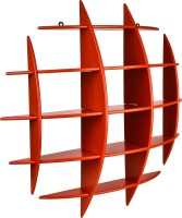 View MasterCraft Folding Wall Shelves MDF Wall Shelf(Number of Shelves - 1, Orange) Furniture (MasterCraft)