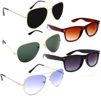 Elligator Aviator, Wayfarer Sunglasses(Multicolor)