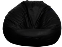 View Opulence Lounger Small Grandeur Bean Bag  With Bean Filling(Black) Furniture (Opulence Lounger)