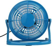 View Powerpak 360 Degree Rotate Mini USB Plastic Fan Personal Fan Cooling Cooler For Table Desk Mini USB Fan - Blue USB Fan(Blue) Laptop Accessories Price Online(Powerpak)