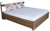 View Nilkamal Lodgy Engineered Wood Queen Bed With Storage(Finish Color -  Brown) Furniture (Nilkamal)