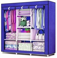 View MSE Wardrobe 9 Stainless Steel Collapsible Wardrobe(Finish Color - Blue) Furniture (MSE)