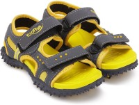 Footfun by Liberty Boys & Girls Velcro Strappy Sandals(Yellow)