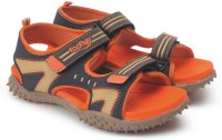 Footfun by Liberty Boys & Girls Velcro Strappy Sandals(Orange)