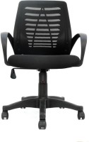 View VJ Interior Fabric Office Executive Chair(Black) Furniture (VJ Interior)