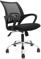 View VJ Interior Fabric Office Visitor Chair(Black) Furniture (VJ Interior)
