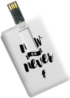 View 100yellow Quote Printed Credit Card Shape Fancy 8GB Pen Drive - Ideal For Office Gift 8 GB Pen Drive(Multicolor) Laptop Accessories Price Online(100yellow)