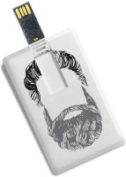 100yellow 16GB Bank/Credit Card Shape Beard Printed High Speed Pendrive 16 GB Pen Drive(Multicolor)