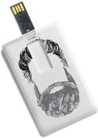 100yellow 16GB Bank/Credit Card Shape Beard Printed High Speed Pendrive 16 GB Pen Drive(Multicolor)