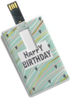100yellow Happy Birthday Printed Credit Card Shape High Speed 16GB Plastic Pendrive 16 GB Pen Drive(Multicolor)