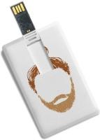 100yellow 16GB Beard Printed Credit Card Shape High Speed Pen Drive 16 GB Pen Drive(Multicolor)