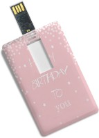 100yellow Credit Card Shape Happy Birthday to You Print 8GB Pendrive 8 GB Pen Drive(Multicolor)