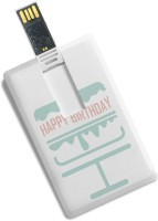 100yellow Happy Birthday Printed Credit Card Shape High Speed 16GB Pendrive 16 GB Pen Drive(Multicolor)