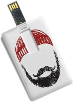 View 100yellow Credit Card Shape Beard Printed 8GB Pen drive 8 GB Pen Drive(Multicolor) Price Online(100yellow)