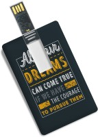 View 100yellow Credit Card Shape Inspirational Quote Printed Designer 16GB Pen Drive 16 GB Pen Drive(Multicolor) Price Online(100yellow)