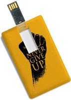 View 100yellow 16GB Credit Card Shape Motivational Quote Printed Fancy Pen Drive/Data Storage 16 GB Pen Drive(Multicolor) Price Online(100yellow)