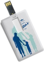 100yellow Credit Card Type Happy Father's Day Print 8GB Designer /Data Storage -Gift For Dad 8 GB Pen Drive(Multicolor)