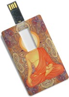 View 100yellow Credit Card Design Lord Buddha Printed Fancy 8GB Pen Drive/Data Storage 8 GB Pen Drive(Multicolor) Price Online(100yellow)
