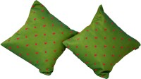 meSleep Embroidered Cushions Cover(Pack of 2, 40 cm*40 cm, Green)