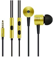 View Technuv Piston Earphone Headset with Mic(Yellow, On the Ear) Laptop Accessories Price Online(Technuv)
