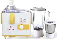 Singer Peppy Delite 500 W Juicer Mixer Grinder(Yellow, 2 Jars)