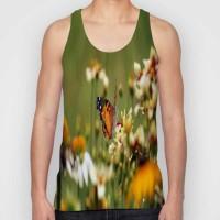 Snoogg Printed Men Round Neck Orange T-Shirt