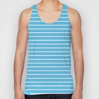 Snoogg Striped Men Round Neck Blue T-Shirt
