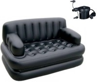 View ALPYOG Polyester 3 Seater Inflatable Sofa(Color - Black) Furniture (ALPYOG)