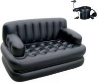 View ALPYOG Polyester 3 Seater Inflatable Sofa(Color - Black) Furniture (ALPYOG)