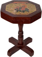 View Lal Haveli Hand-Painted Telephone / Corner Stool Solid Wood Bedside Table(Finish Color - Brown) Furniture (Lal Haveli)