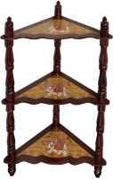 View Lal Haveli Hand-Painted 3 Tier Shelf Solid Wood Corner Table(Finish Color - Glossy) Furniture (Lal Haveli)