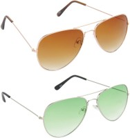 Redleaf Aviator Sunglasses(Brown)