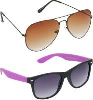 Redleaf Aviator, Wayfarer Sunglasses(Brown)