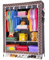 View MSE Stainless Steel Collapsible Wardrobe(Finish Color - Black) Furniture (MSE)