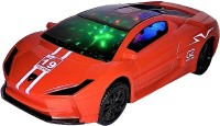 Darling Toys Bump & Go Racing Super Model Car 3D Light and Sound(Red)