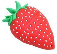 View Microware Strawberry Shape 8 GB Pen Drive(Red)  Price Online