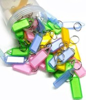 IM Assorted Tag Pack of 50 Key Chain Locking Key Chain(Multicolor)