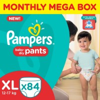 Pampers Pants Diapers Monthly Mega Box - XL(84 Pieces)