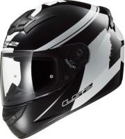 LS2 FF352-XL Bulky Matt Black and White Motorbike Helmet(Matt Black, White)